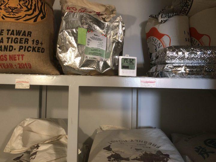 コーヒー 生豆保管庫